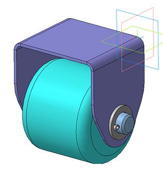 Опорный ролик   Газонокосилки     3д модель