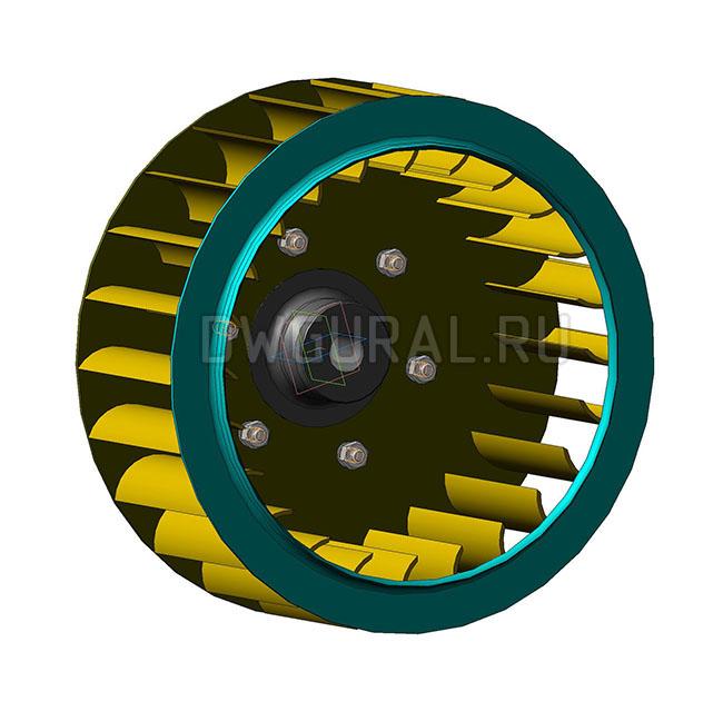 3D модель Рабочее колесо печного вентилятора