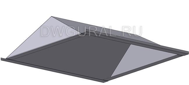 чертеж ящик электрошкафа  Крыша электрощита 3D модель.