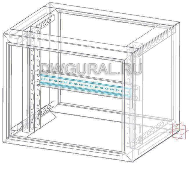 чертеж ящик электрошкафа  Корпус электрощита 3D модель.