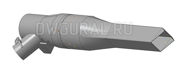 чертеж горелки 3Д  модель горелки общий вид.