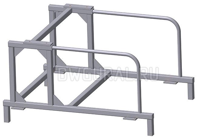 3D модель рамы механизм выгрузки