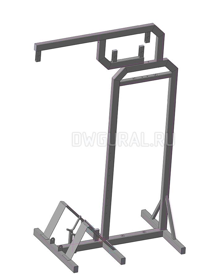 3D модель рамы спортивного тренажера