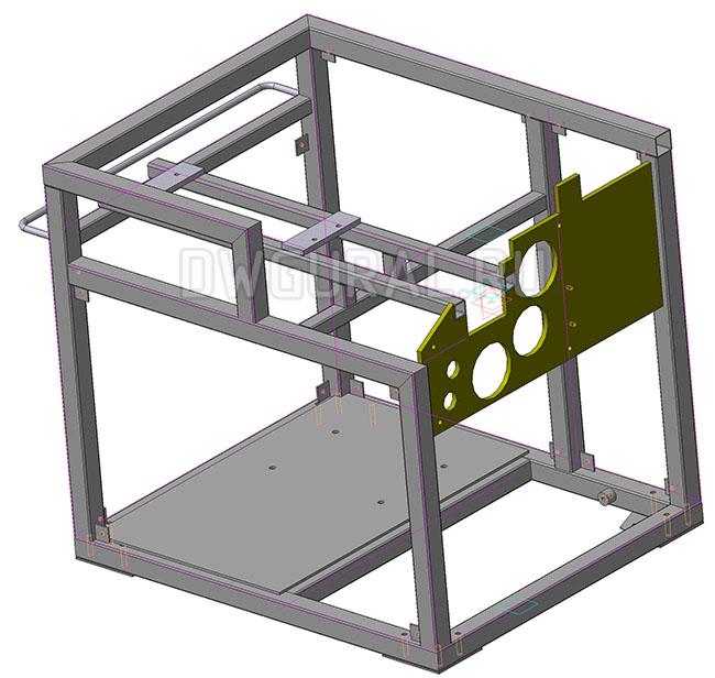 3D модель рамы шпигорезки