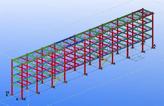 Разработка КМД. Эстакада трубопровода 3D модель