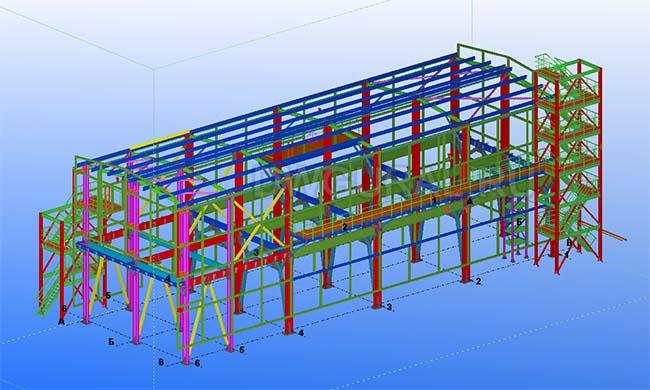 Разработка КМД. Здание цеха 3D модель