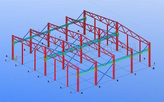 Разработка КМД. Здание склада 3D модель
