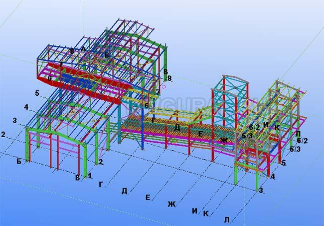 Разработка КМД. Завод по производству абразива 3D модель