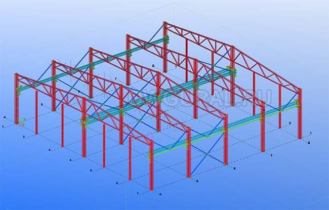 Разработка КМД. Здание гаража для грузового автотранспорта 3D модель