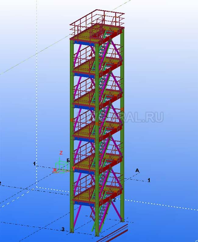 Разработка КМД. Этажерка обслуживания 3D модель