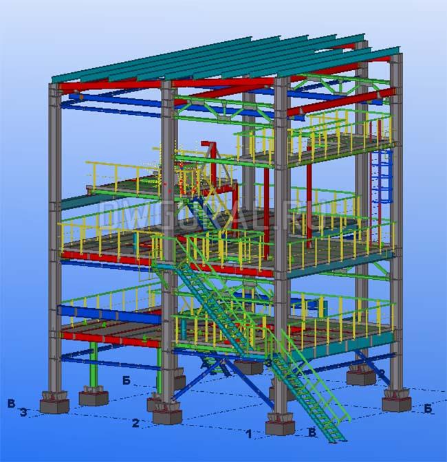 Разработка КМД. Этажерка обслуживания фильтра 3D модель