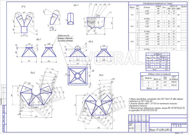 Разработка КМД. Рабочие чертежи трубопровода диаметром 300 мм марки Р-6