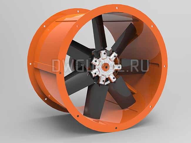 Осевой вентилятор Ф 750 мм