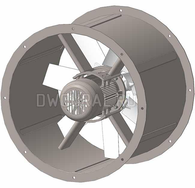Крепление электродвигателя привода вентилятора выполнено в виде Х стойки.