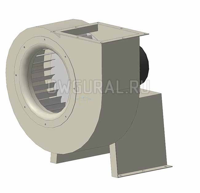 3D модель вентилятора низкого давления ВР №4 исполнение 1
