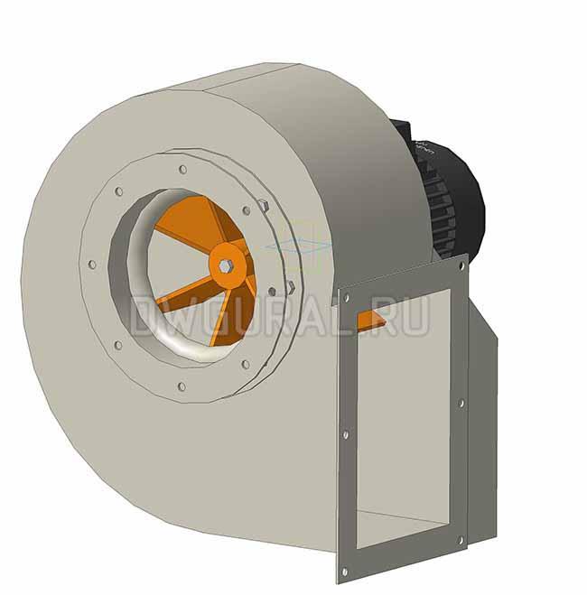 Вентилятор пылевой №3 для удаления стружки деревообрабатывающего производств