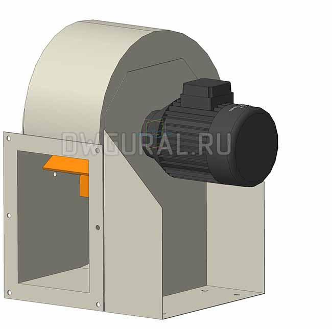 Крыльчатка пылевого вентилятора выполнена из износостойкой стали.